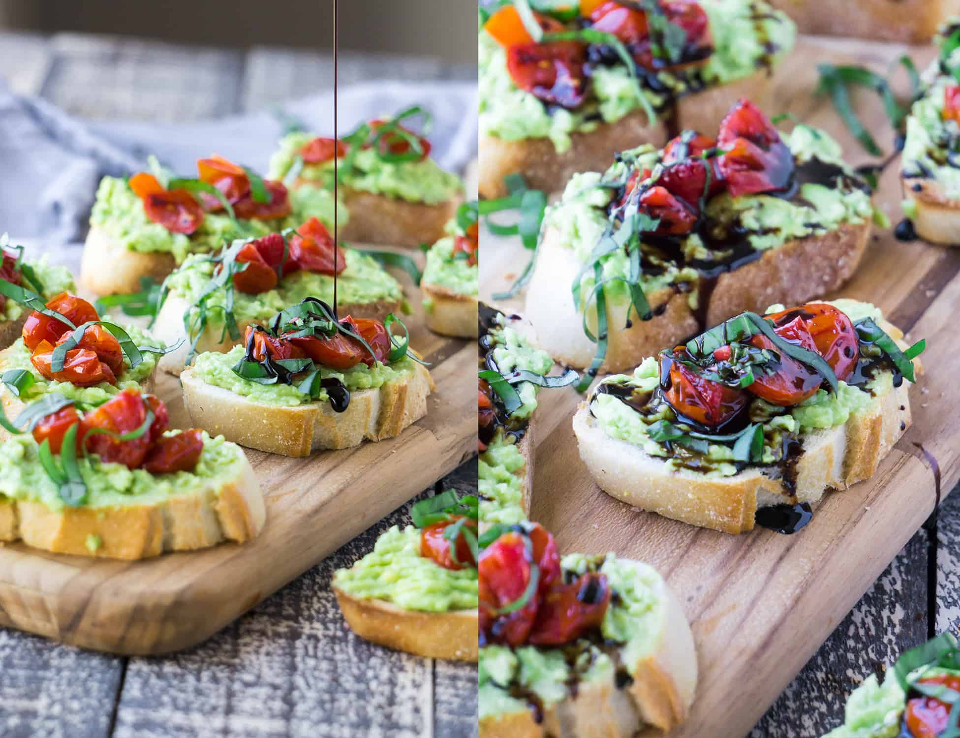 Avocado & Roasted Cherry Tomato Bruschetta